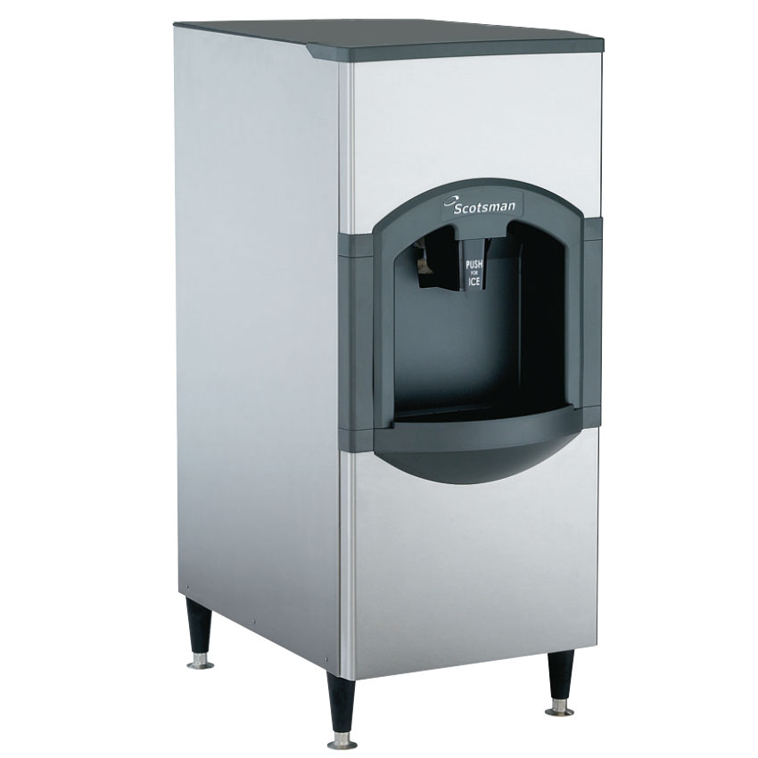 Scotsman HD22B-1 Floor Model Cube Ice Dispenser w/ 120-lb Storage - Bucket Fill, 115v