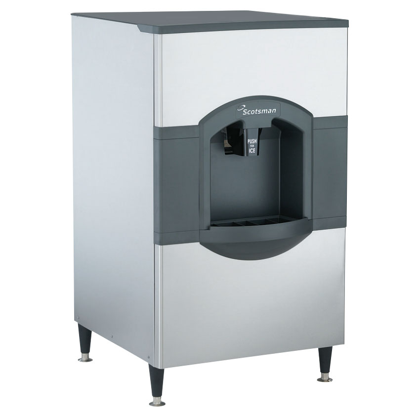 Scotsman HD30B-1 Floor Model Cube Ice Dispenser w/ 180-lb Storage - Bucket Fill, 115v