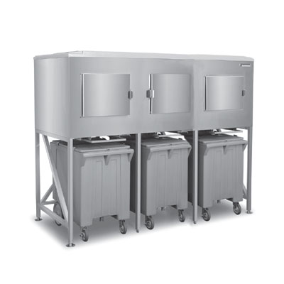 Scotsman ICS-3 Ice Express System w/ Side-Hinged Door & (3) Bay, 1800-lb Storage Capacity