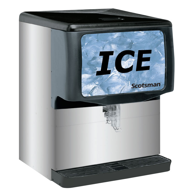 Scotsman ID250B-1 Countertop Cube Ice Dispenser w/ 250-lb Storage, Cup Fill, 115v