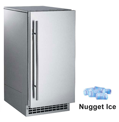 Scotsman SCN60PA1SU Undercounter Nugget Ice Maker - 85-lbs/day, Pump Drain, Outdoor Rated, 115v