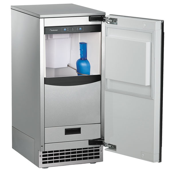 Scotsman SCN60PA1SU Undercounter Nugget Ice Maker - 80-lbs/day, Pump Drain, Outdoor Rated, 115v