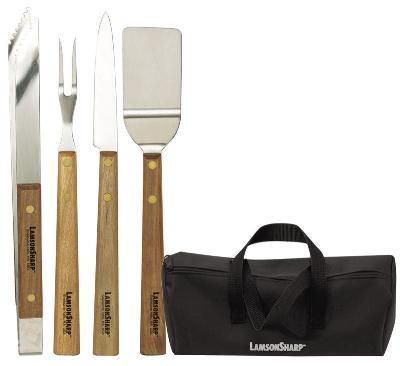Lamson & Goodnow 39800 4 Piece Tail-Gater Set: Knife Fork Turne Restaurant Supply