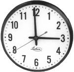 Lathem 12RFAG Analog Wall Clock, 12in Face