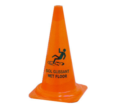 Dynamic BS004 29.5-in Wet Floor Safety Cone, Trilingual