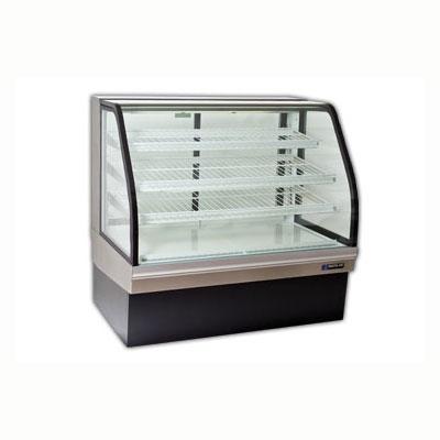 "Master-bilt CGB-59NR 59"" Full Service Bakery Case w/ Curved Glass - (4) Levels, 115v"