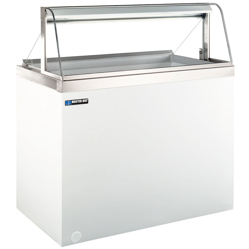 "Master-bilt DD-66CG 69.25"" Stand Alone Ice Cream Freezer w/ 12-Tub Capacity, White, 115v"