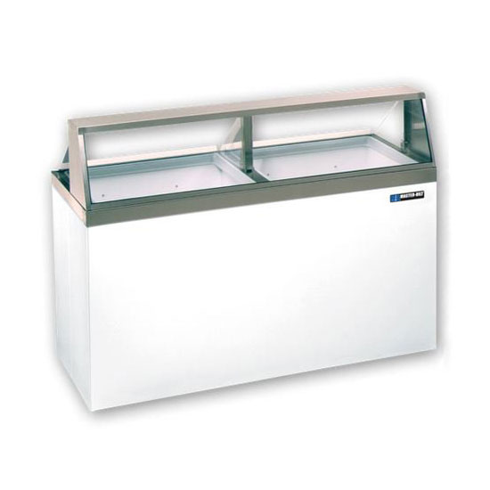 "Master-bilt DD-66L 69.25"" Stand Alone Ice Cream Freezer w/ 12-Tub Capacity, White, 115v"
