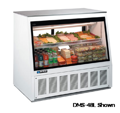 "Master-bilt DMS-72L 72"" Full Service Deli Case w/ Straight Glass - (2) Levels, 115v"