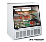 "Master-bilt DMS-72 72"" Full Service Deli Case w/ Straight Glass - (3) Levels, 115v"