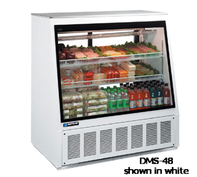 "Master-bilt DMS-96 96"" Full Service Deli Case w/ Straight Glass - (3) Levels, 115v"