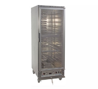 Master-bilt HP6A-LX Full Height Heated Holding & Proofing Cabinet, Clear Door, Adjustable Slides