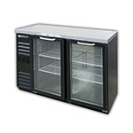 "Master-bilt MBBB48NG 48"" (2) Section Bar Refigerator - Swinging Glass Doors, 115v"