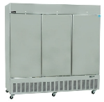 "Master-bilt BSD-80TFA 85.5"" Three Section Reach-In Freezer, (3) Solid Doors, 208v/1ph"