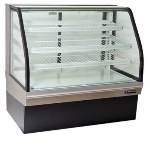 "Master-bilt CGB-59 59"" Full Service Bakery Case w/ Curved Glass - (4) Levels, 115v"