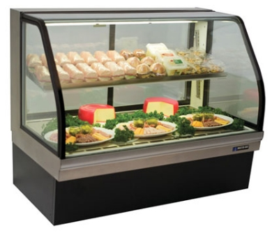 "Master-bilt CGD-59 59"" Full Service Deli Case w/ Curved Glass - (2) Levels, 115v"