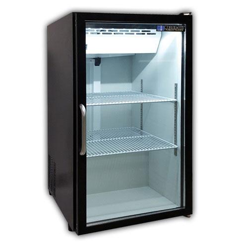 "Master-bilt MBCTM7B 21"" Countertop Refrigerator w/ Front Access - Swing Door, Black, 115v"
