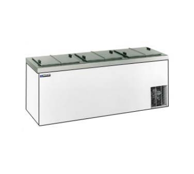 "Master-bilt DC-12DSE 84.63"" Stand Alone Ice Cream Freezer w/ 18-Tub Capacity & 15-Tub Storage, 115v"