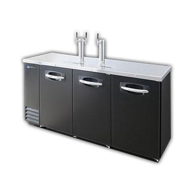 """Master-bilt MBDD79 79"""" Draft Beer System w/ (4) Keg Capacity, (2) Columns, Black, 115v"""