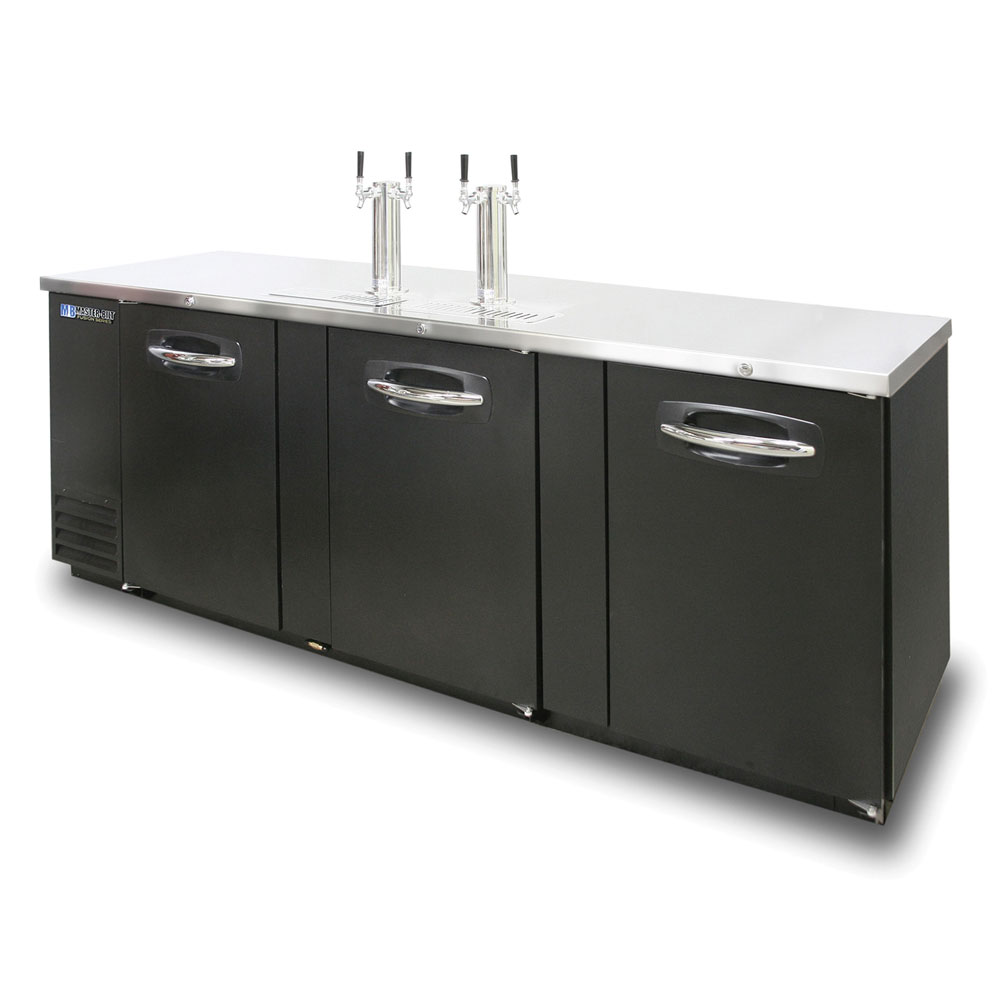 "Master-bilt MBDD95 95"" Draft Beer System w/ (5) Keg Capacity - (2) Double Columns, Black, 115v"