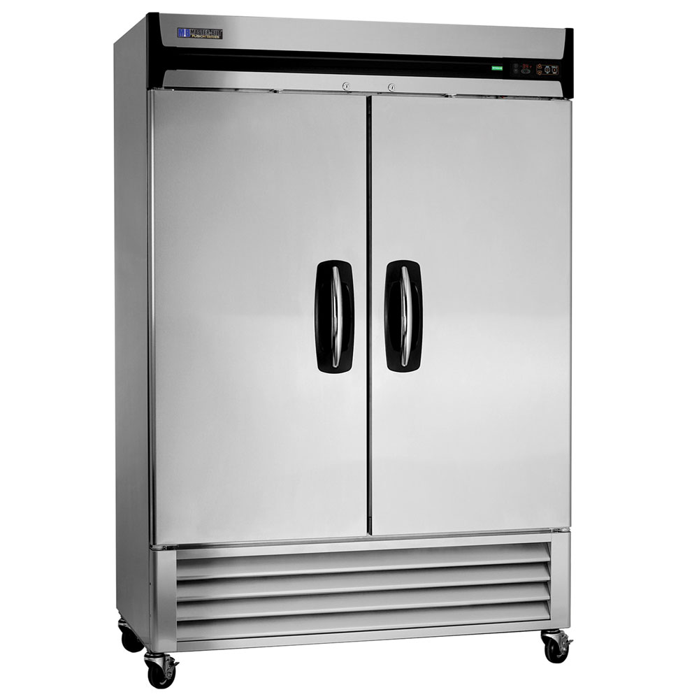 "Master-bilt MBF49-S 55.25"" Two Section Reach-In Freezer, (2) Solid Doors, 115v"