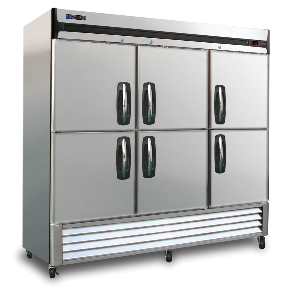 "Master-bilt MBF72-SH 78"" Three Section Reach-In Freezer - (6) Solid Doors, 115v"