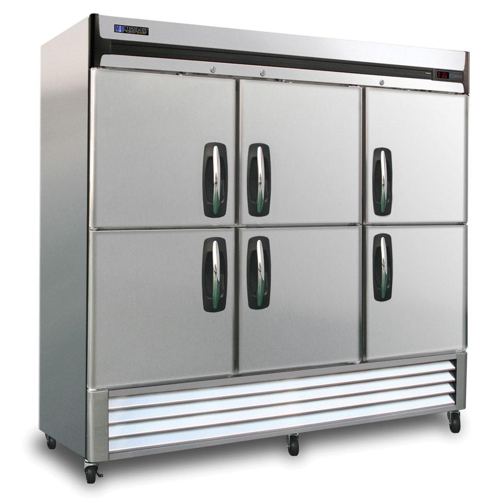 "Master-bilt MBF72-SH 78"" Three Section Reach-In Freezer - (6) Solid Doors, 115v"