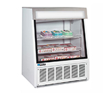 "Master-bilt FIP-40 40"" One-Section Display Freezer w/ Swinging Doors - Bottom Mount Compressor, 115v - Black"