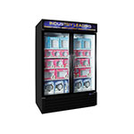 "Master-bilt MBGFP48HG 52"" Two-Section Display Freezer w/ Swinging Doors, Bottom Mount Compressor, 115v"