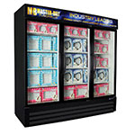 "Master-bilt MBGFP74-HG 78"" Three-Section Display Freezer w/ Swinging Doors, 208-230v/1ph"