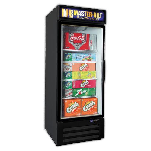 """Master-bilt MBGRP23HG 27"""" One-Section Glass Door Merchandiser w/ Swing Doors, Black, 115v"""