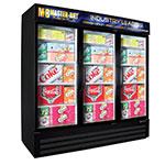 "Master-bilt MBGRP74HG 78"" Three-Section Glass Door Merchandiser w/ Swing Doors, 115v"