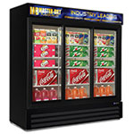 "Master-bilt MBGRP74SL 78"" Three-Section Glass Door Merchandiser w/ Sliding Doors, 115v"