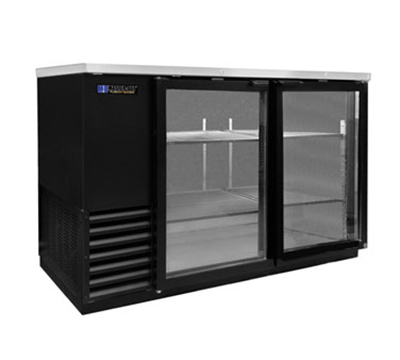 "Master-bilt MBBB59-G 60"" (2) Section Bar Refrigerator - Swinging Glass Doors, 115v"