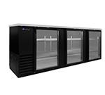 """Master-bilt MBBB95-G 96"""" (3) Section Bar Refrigerator - Swinging Glass Doors, 115v"""