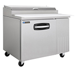"Master-bilt MBPT44 44"" Pizza Prep Table w/ Refrigerated Base, 115v"