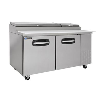 "Master-bilt MBPT67-002 67"" Pizza Prep Table w/ Refrigerated Base, 115v"