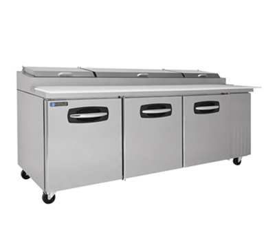 "Master-bilt MBPT93 93"" Pizza Prep Table w/ Refrigerated Base, 115v"