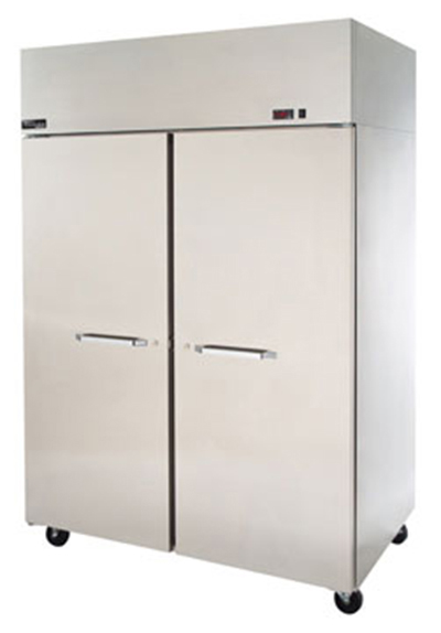 "Master-bilt MNW482SSS/8 55"" Reach-In Heated Cabinet - (2) Solid Door, 48.8-cu ft, Stainless"