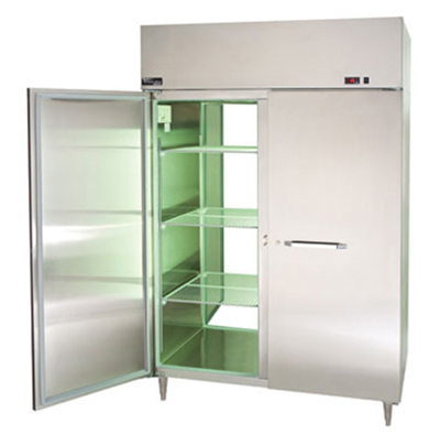"Master-bilt MPW554SSS/8 55"" Pass-Thru Heated Cabinet - (4) Solid Door, 55.7-cu ft"