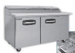 "Master-bilt MBPT44-001 44"" Pizza Prep Table w/ Refrigerated Base, 115v"