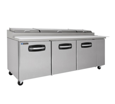 "Master-bilt MBPT93-006 93"" Pizza Prep Table w/ Refrigerated Base, 115v"
