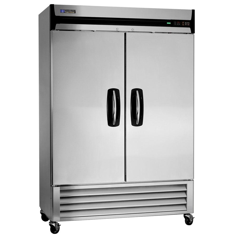 "Master-bilt MBR49-S 55.25"" Two Section Reach-In Refrigerator, (2) Solid Door, 115v"