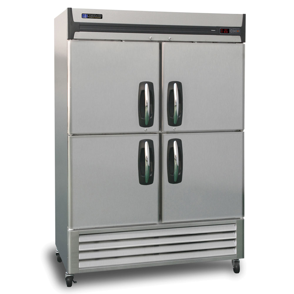 "Master-bilt MBR49SH 55"" Two-Section Reach-In Refrigerator, (4) Solid Doors, 115v"