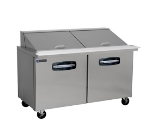 "Master-bilt MBSMP60-24 60"" Sandwich/Salad Prep Table w/ Refrigerated Base, 115v"
