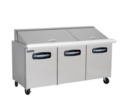 "Master-bilt MBSMP72-30 72"" Sandwich/Salad Prep Table w/ Refrigerated Base, 115v"