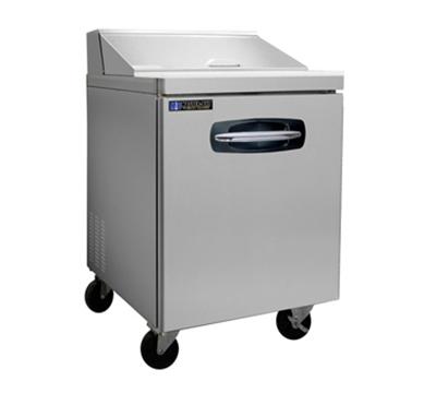 "Master-bilt MBSP27-8A 27.5"" Sandwich/Salad Prep Table w/ Refrigerated Base, 115v"