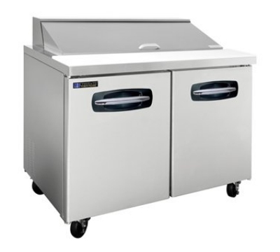 "Master-bilt MBSP48-12-002 48"" Sandwich/Salad Prep Table w/ Refrigerated Base, 115v"