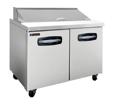 "Master-bilt MBSP48-12 48"" Sandwich/Salad Prep Table w/ Refrigerated Base, 115v"