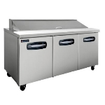 "Master-bilt MBSP72-18-004 72"" Sandwich/Salad Prep Table w/ Refrigerated Base, 115v"